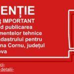 Anunț privind publicarea Documentelor tehnice ale cadastrului pentru comuna Cornu, județul Prahova